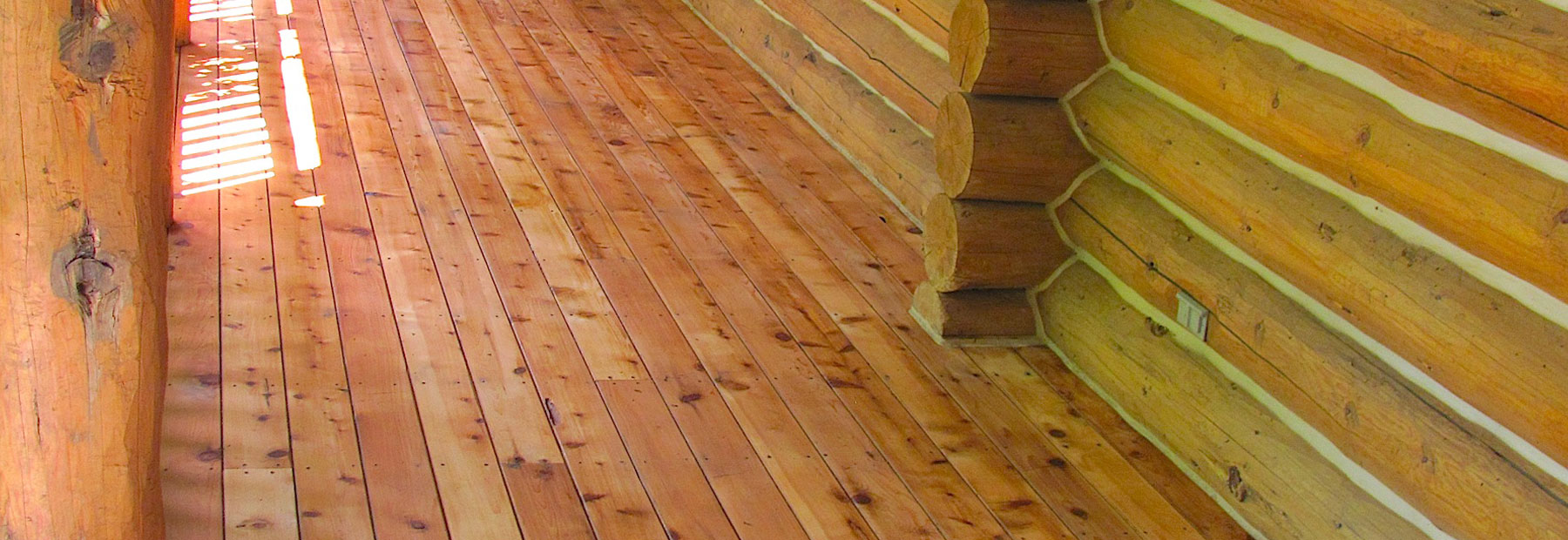 Log Home Floor Restoration
