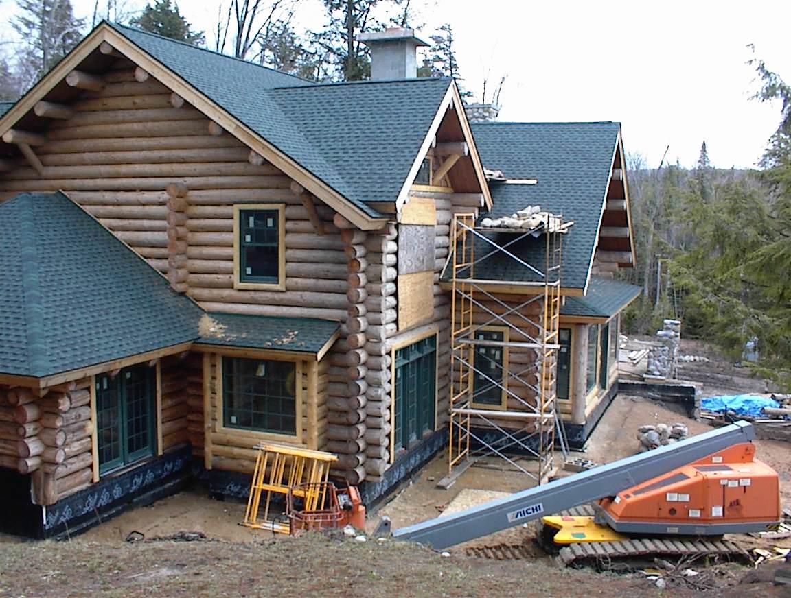 West Michigan Log House Restoration - Northern Michigan Painting