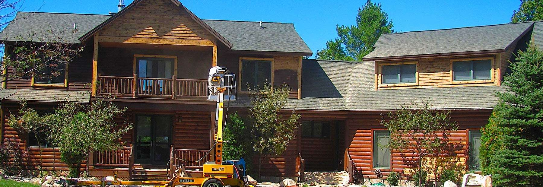 Log Home Restoration Northern Michigan